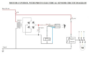 MOTOR CIRCUITS : Photo electric sensor motor control circuit