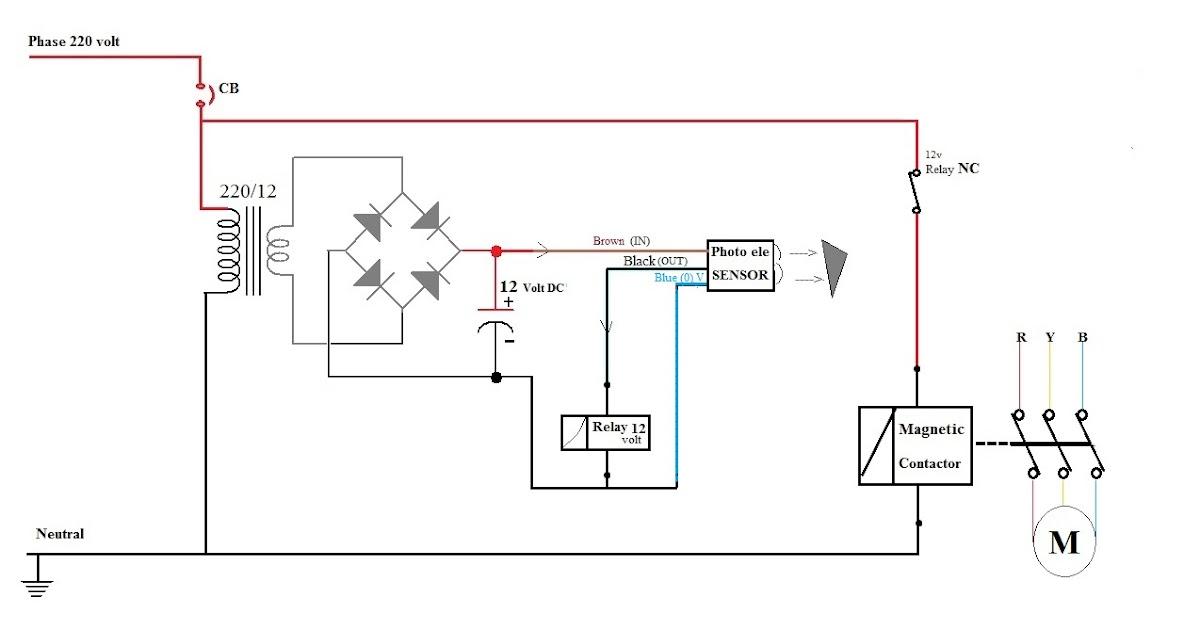 MOTOR CIRCUITS : Photo electric sensor motor control circuit