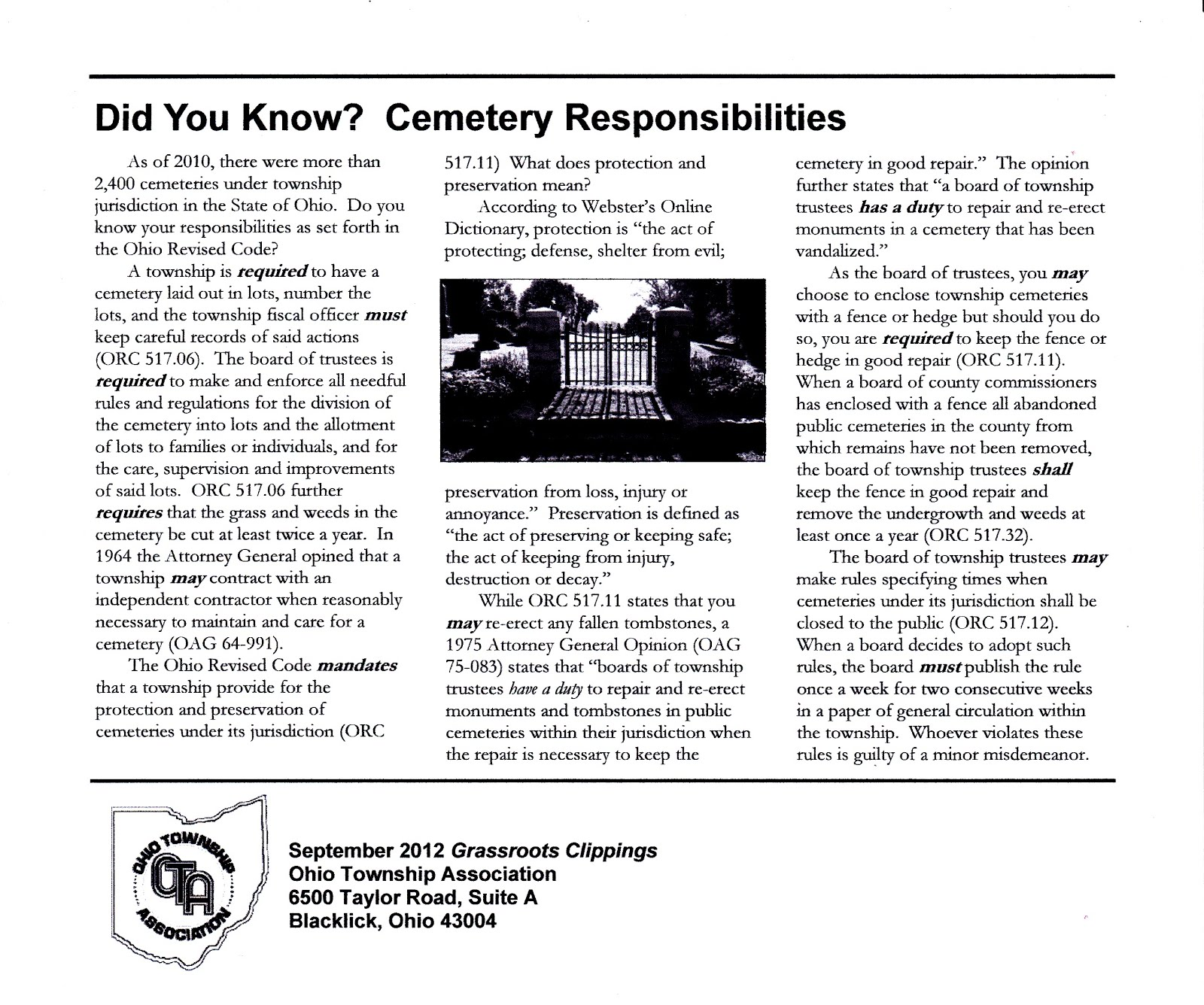 "OHIO TOWNSHIP ASSOCIATION - ""DID YOU KNOW?"""