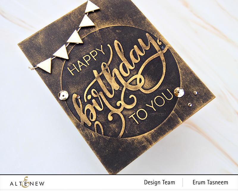 Altenew Modern Birthday Faux Letterpress Debossing Folder   Erum Tasneem   @pr0digy0