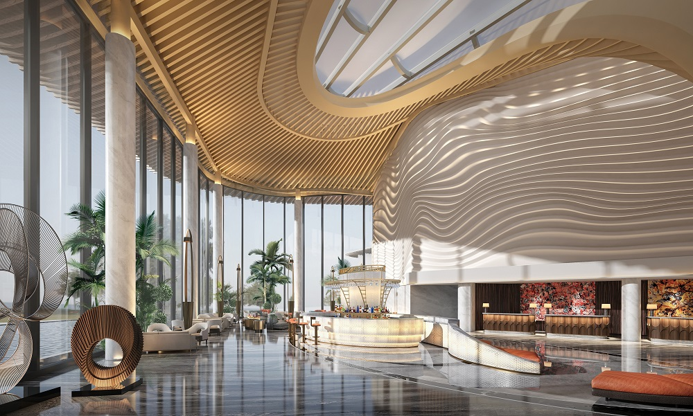 Artist's impression of Radisson Collection Resort, Nanjing's lobby
