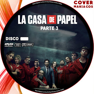 GALLETA CARATULA LA CASA DE PAPEL - TEMPORADA 3 - 2019 [COVER DVD