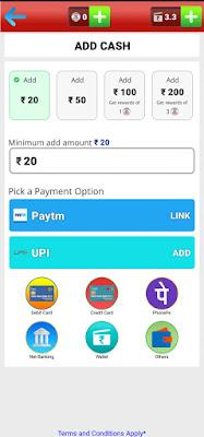 Add cash in BigCash app