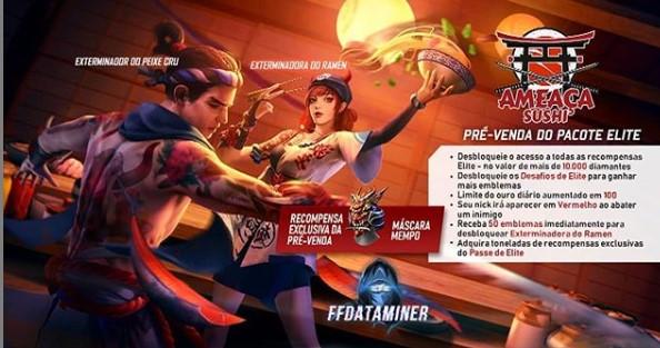 Bocoran Hadiah Pre-Order Elite Pass Season 27 Free Fire Tema Sushi