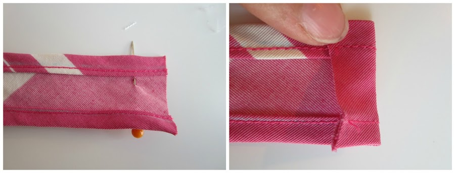 mis nancys, mis peques y yo, tutorial turbante para nancy, doblar y coser extremo