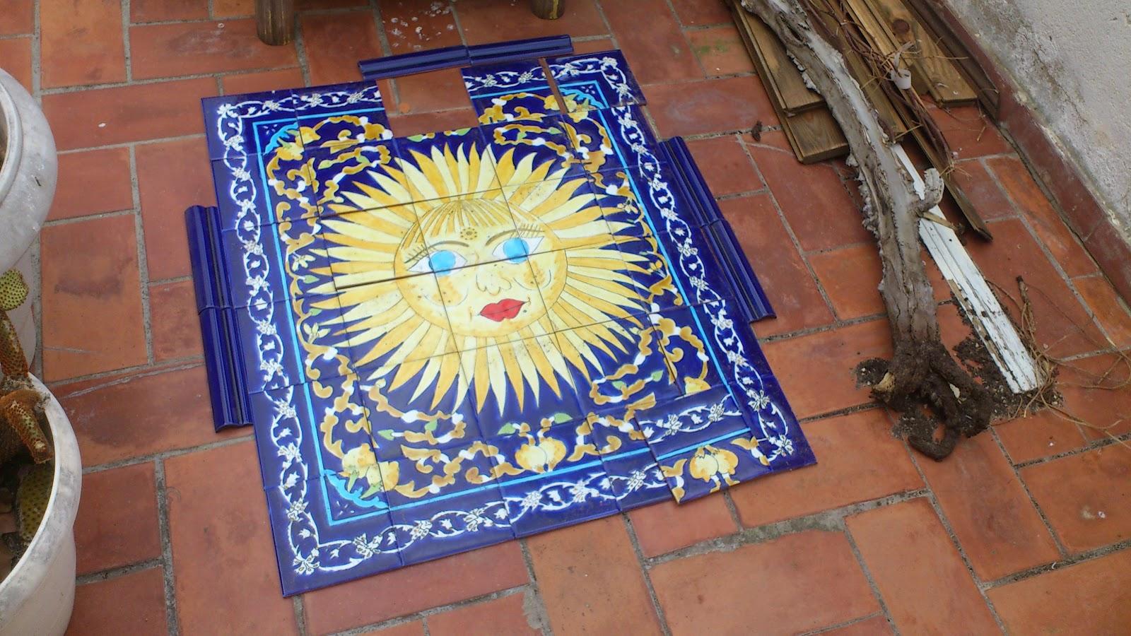 La draperie fresque carrelage terrasse for Fresque carrelage