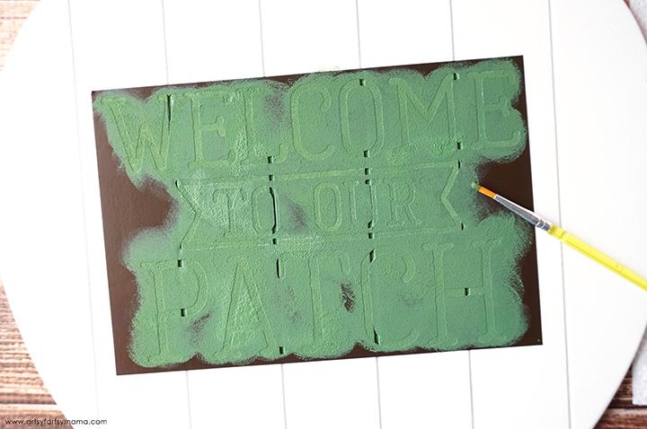 Vinyl Stencil and Paint Brush