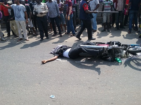Must Watch: A FUOYE Student Fairly Injured,  Two Bike Men Confirmed Dead! + VIDEO