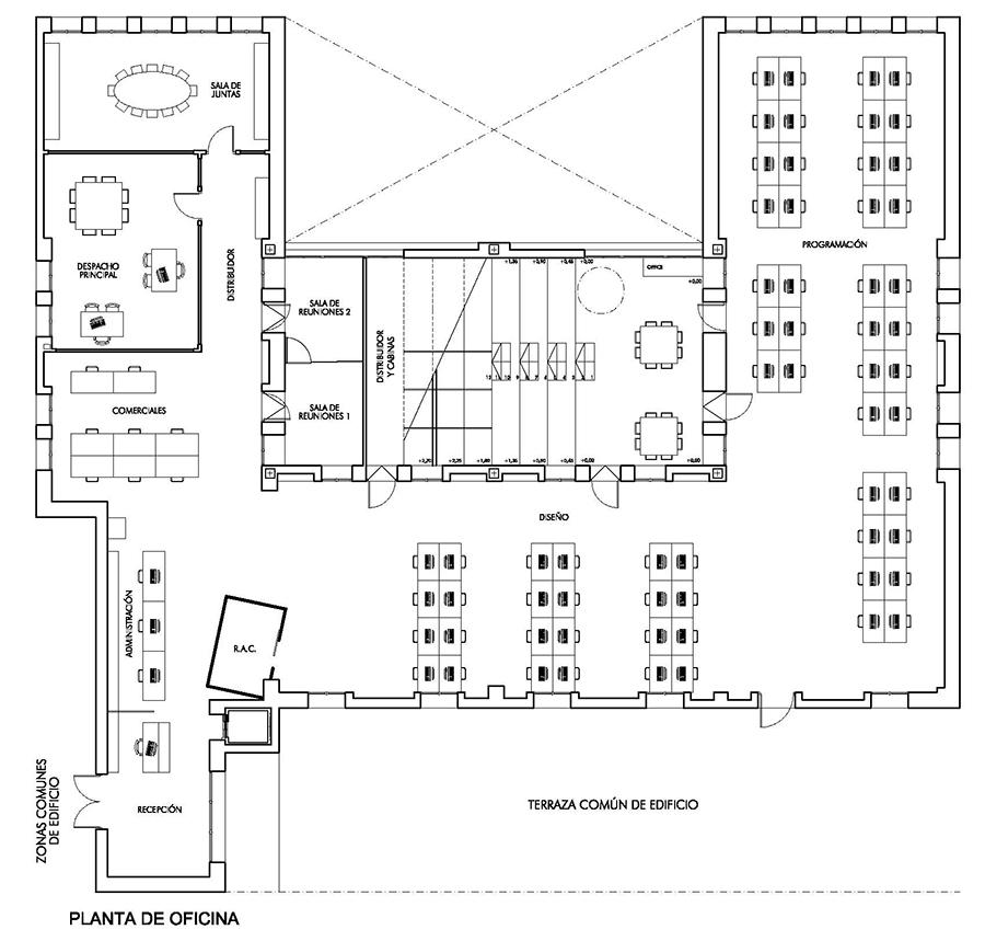 Oficina Empresa Tecnológica S-Dos - Estudio Honorio Aguilar
