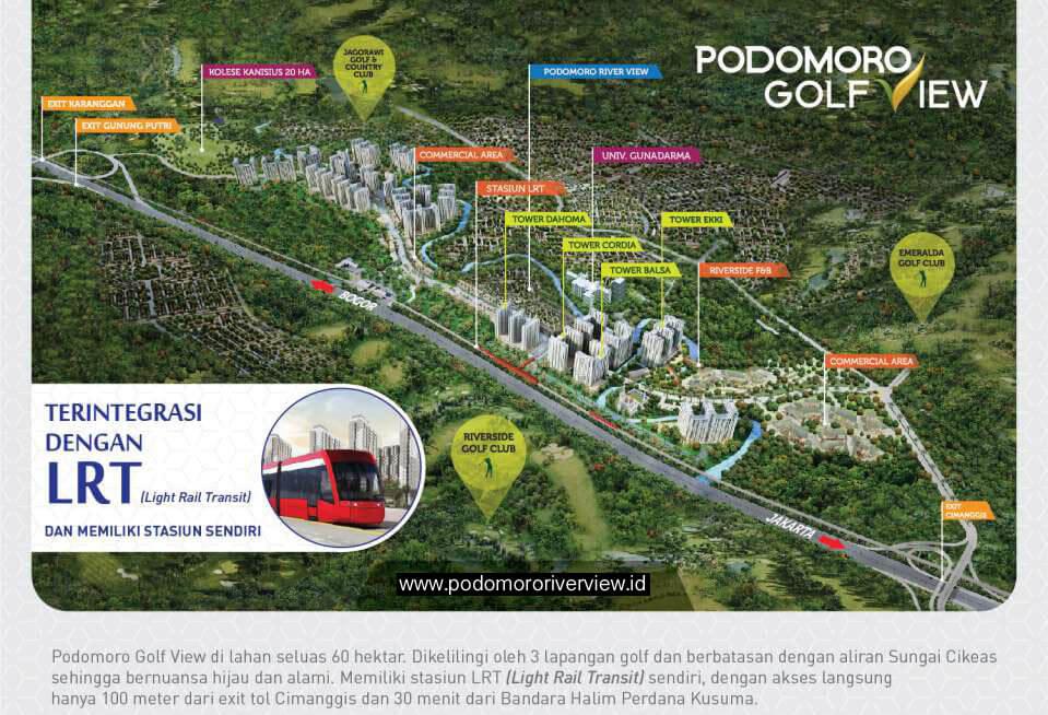 Lokasi Rumah Podomoro River View