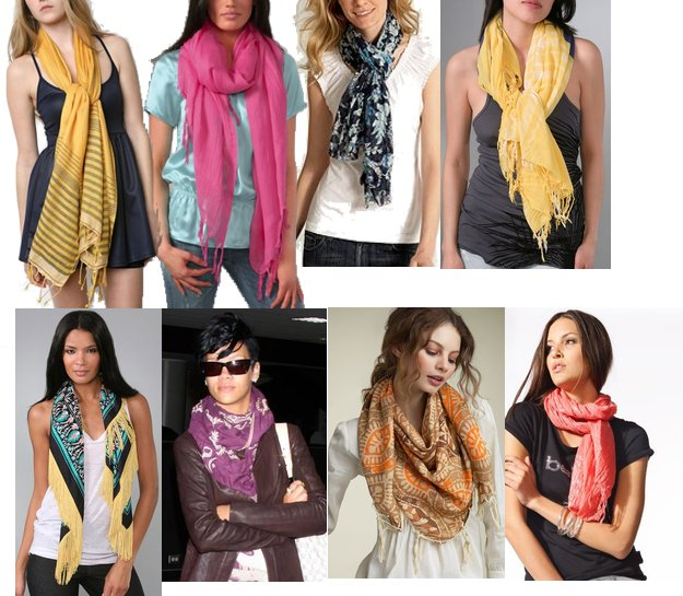 Fidgety Fingers THE MANY WAYS TO WEAR A SCARF Cute Ways To Wear Scarves In Your Hair