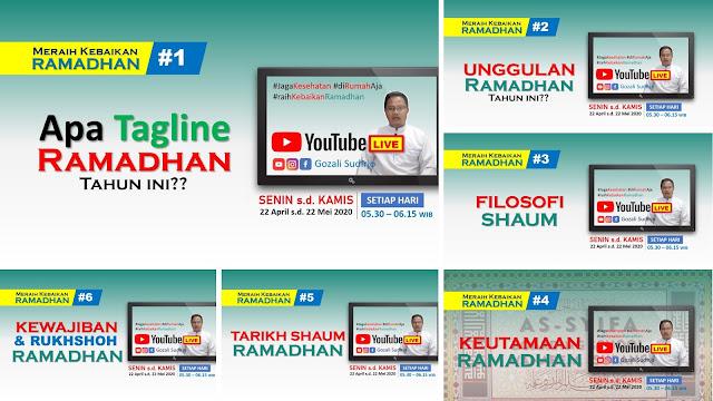 Serial Meraih Kebaikan Ramadhan di Channel Youtube! 1-6