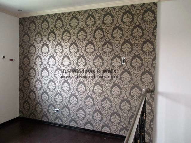 Patterned Wallpaper As Accent Wall For Loft Room - Pilar Village, Las Piñas