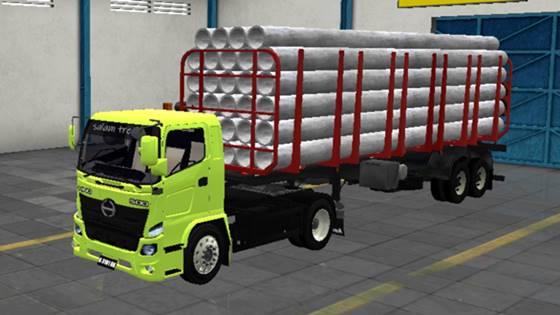 Mod Truck Hino 500 Muatan Pipa Beton