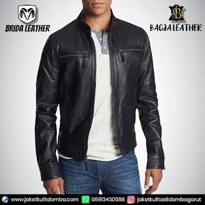 Jual Jaket Kulit Asli Garut Pria Domba Original Brida Leather B70 | WA 08813430588