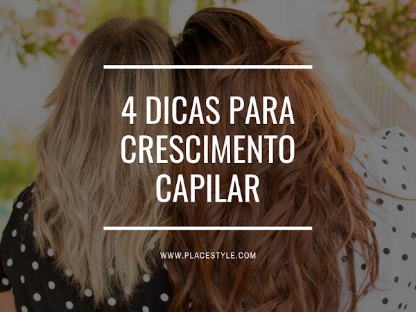 4 Dicas para crescimento capilar