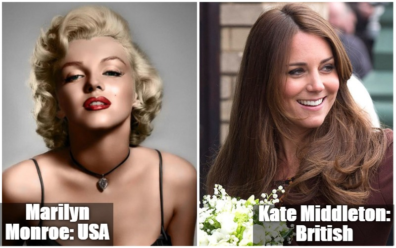 Marilyn Monroe Vs Kate Middleton