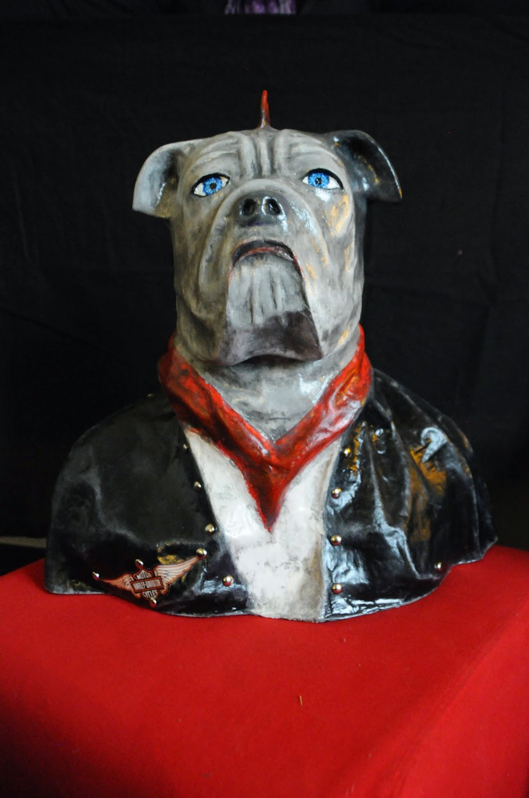 chien rock papier mâché