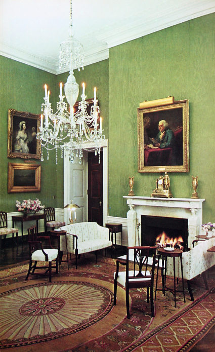 White house floor1 green roomjpg Bedroom Furniture Jfk 50 Jfk 50 The Graceful Delicate Federal Style