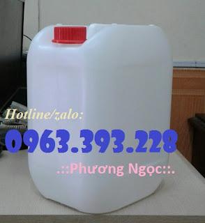 Can nhựa 10 lít, can nhựa vuông đựng hóa chất, can nhựa có núm 5e65095ad48434da6d95