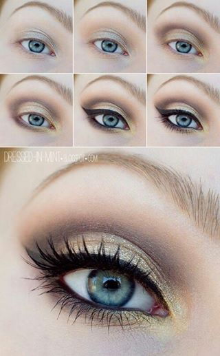 3 Glitter eye makeup tutorial