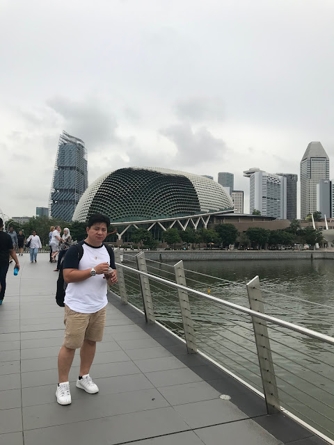 Dad at Esplanade Footbridge in Singapore