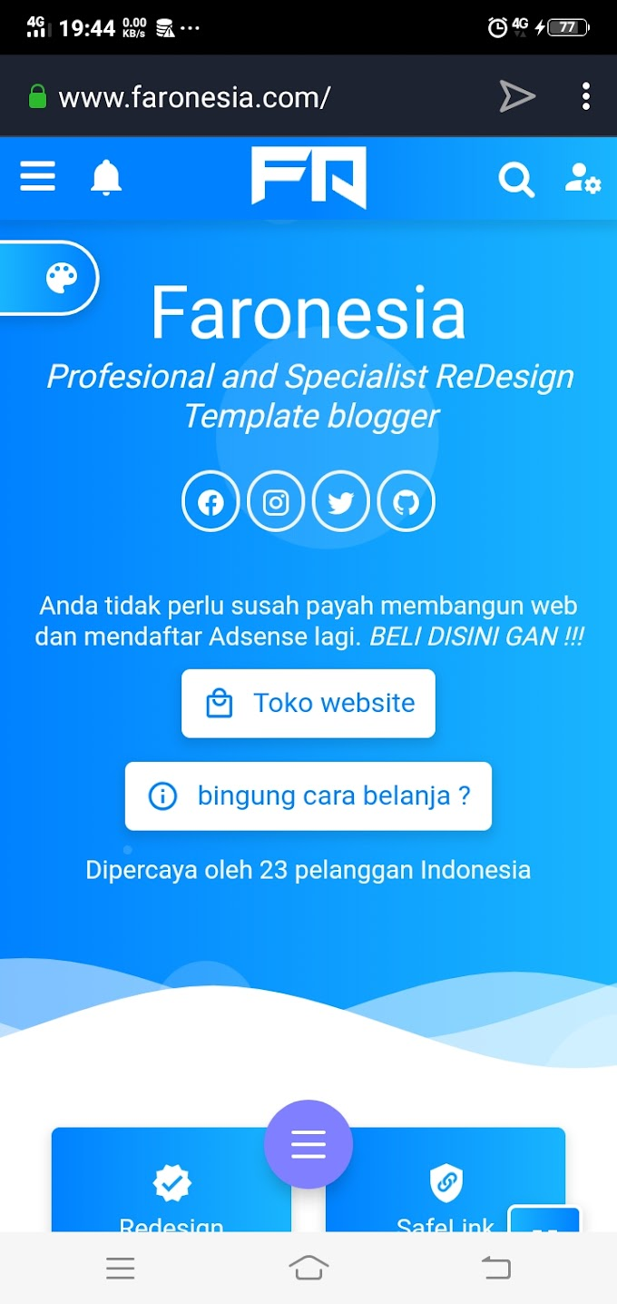 Faronesia - Tutorial Blogspot dan Media Sosial