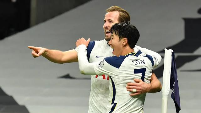 Tottenham duo Harry Kane and Son
