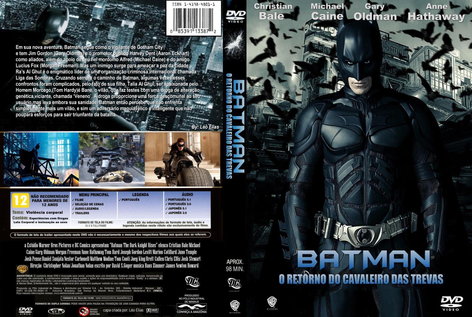 batman o cavaleiro das trevas ressurge em dvd-r