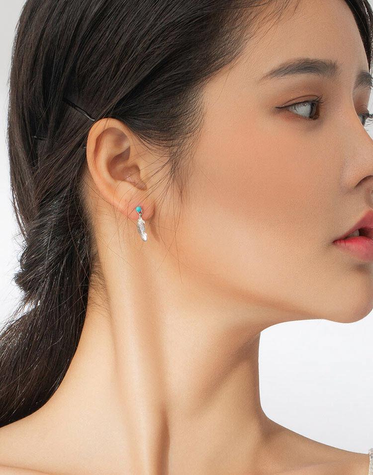 印地安羽毛 925純銀耳環(絕版品)