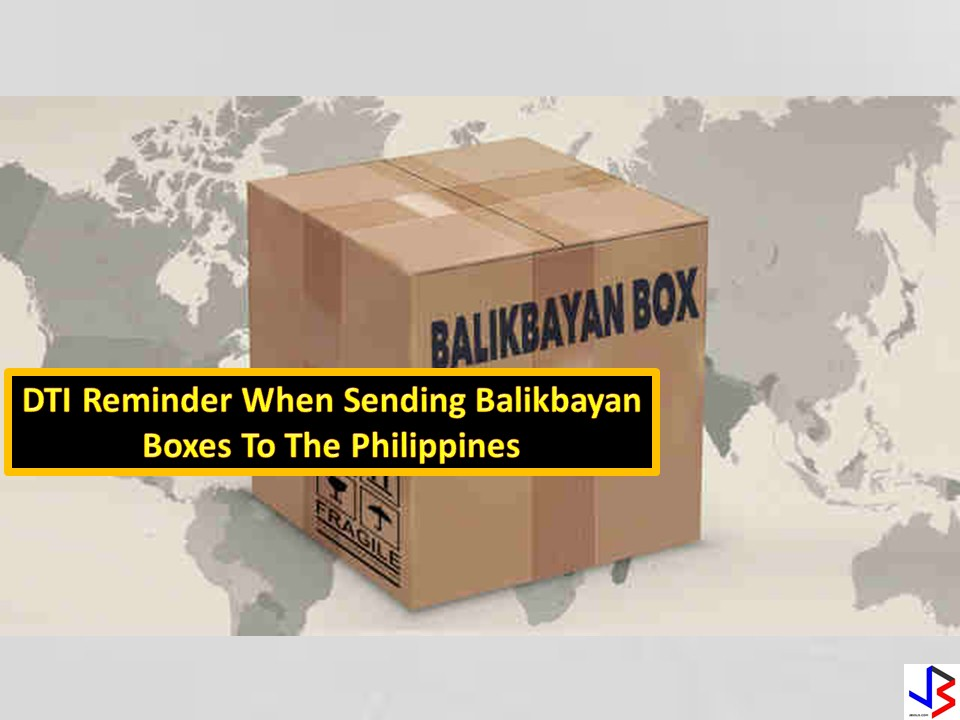 "PAALALA NG DTI SA MGA MAGPAPADALA NG BALIKBAYAN BOXES NGAYONG HOLIDAY SEASON. VIDEO: DTI REMINDER WHEN SENDING BALIKBAYAN BOXES TO THE PHILIPPINES     The Department of Trade and Industry reminds everyone who are sending balikbayan boxes in the Phillipines especially this holiday season,to make sure that you are dealing with DTI accredited and licensed freight forwarder be it a sea or air cargo.  Read: LIST OF ACCREDITED FREIGHT FORWARDERS   Aileen Faller has a bad experience regarding  a certain freight forwarder.Her mother,an OFW from New York, sent a balikbayan box to her but it has been delivered to the wrong recipient,has been opened and lost some of the items.However,the cargo company and Aileen agreed to settle  the issue and the forwarder paid Aileen the amount of Php10,000 instead. According to DTI, a total of 57 cases of undelivered box and 1 missing package  has been recorded since January of this year.  DTI warned the public to be wary of freight forwarding companies who are offering lower cargo rates.They also encourage the public to check if the cargo forwarder or consolidator are accredited by DTI by checking on their website.DTI also reminded the OFWs to refrain from sending prohibited items like legal tenders,guns and ammunitions,illegal drugs,pornographic materials,pirated dvd's,plants and seeds,any items in commercial quantities,fresh food products.  Read: LIST OF PROHIBITED ITEMS TO SEND IN BALIKBAYAN BOXES  QUESTIONS AND ANSWERS REGARDING BALIKBAYAN BOXES   Since the holiday season is approaching,most OFWs are expected to send their balikbayan boxes for their loved ones.Just make sure that you are entrusting your hard-earned cargo to the right cargo forwarder.  advertisement   P7.5 MILLION WORTH OF PARTY DRUGS HIDDEN INSIDE  TOY BOXES,DISCOVERED BY BUREAU OF CUSTOMS The Bureau  of Customs together with PDEA discovered a shipment of illegal party drugs and amphetamine worth P7.5 Million at the Manila Central Post Office.The package that originated  from the Netherlands appears to be ordinary toy boxes but concealed inside the boxes are thousands of ecstacy pills and amphetamine,a substance used in making  illegal drugs.The parcel is addressed to a certain Martin Domingo.A manhunt has been set by the authorities to locate him. Customs Commissioner Faeldon is appealing to the public and to the OFWs to bear with the bureau as they will again implement tight checking and monitoring  of every balikbayan boxes. ""In spite of ongoing massive operations in stopping it,they are continuously taking this very,very high risk in bringing these drugs to the country,"" Faeldon said.     advertisement In the past 3 weeks ,almost 2.5 kilos of cocaine and 2,000 pcs of ecstacy has been apprehended by the bureau."