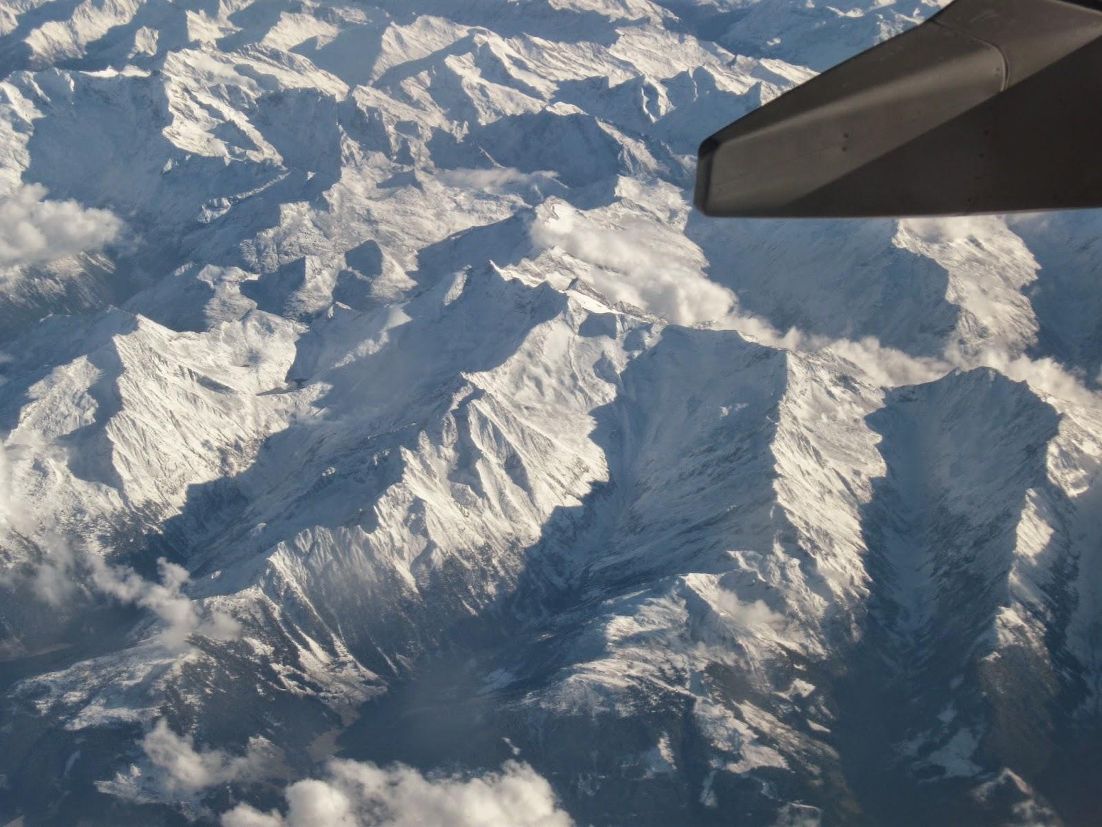 lot samolotem nad Europą widok z góry