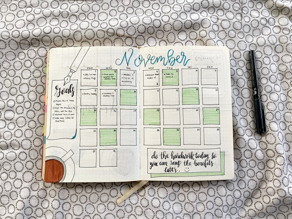 November 2020 Monthly Overview Spread - Renee Alexis