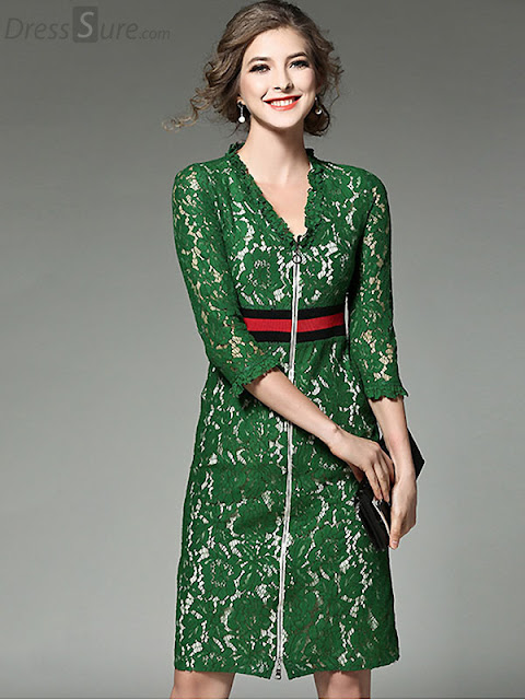 Green dress for parties