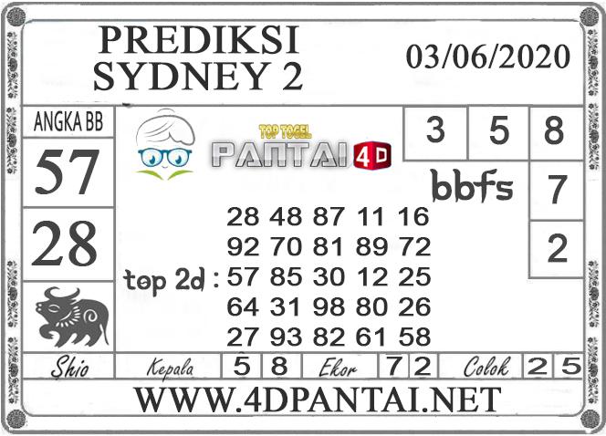 PREDIKSI TOGEL SYDNEY 2 PANTAI4D 03 JUNI 2020