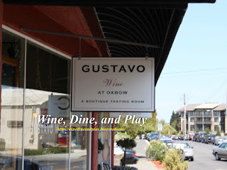 The Gustavo winery tasting room in the city of Napa, California