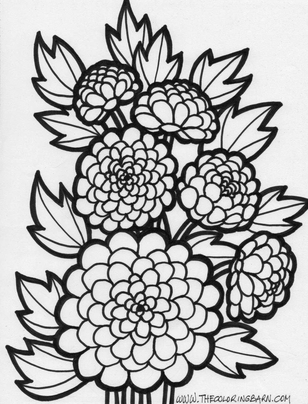 12 beautiful free flower coloring pages for Coloring flower pages