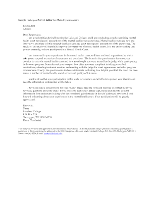 cover letter for survey cover letter for survey cover letter