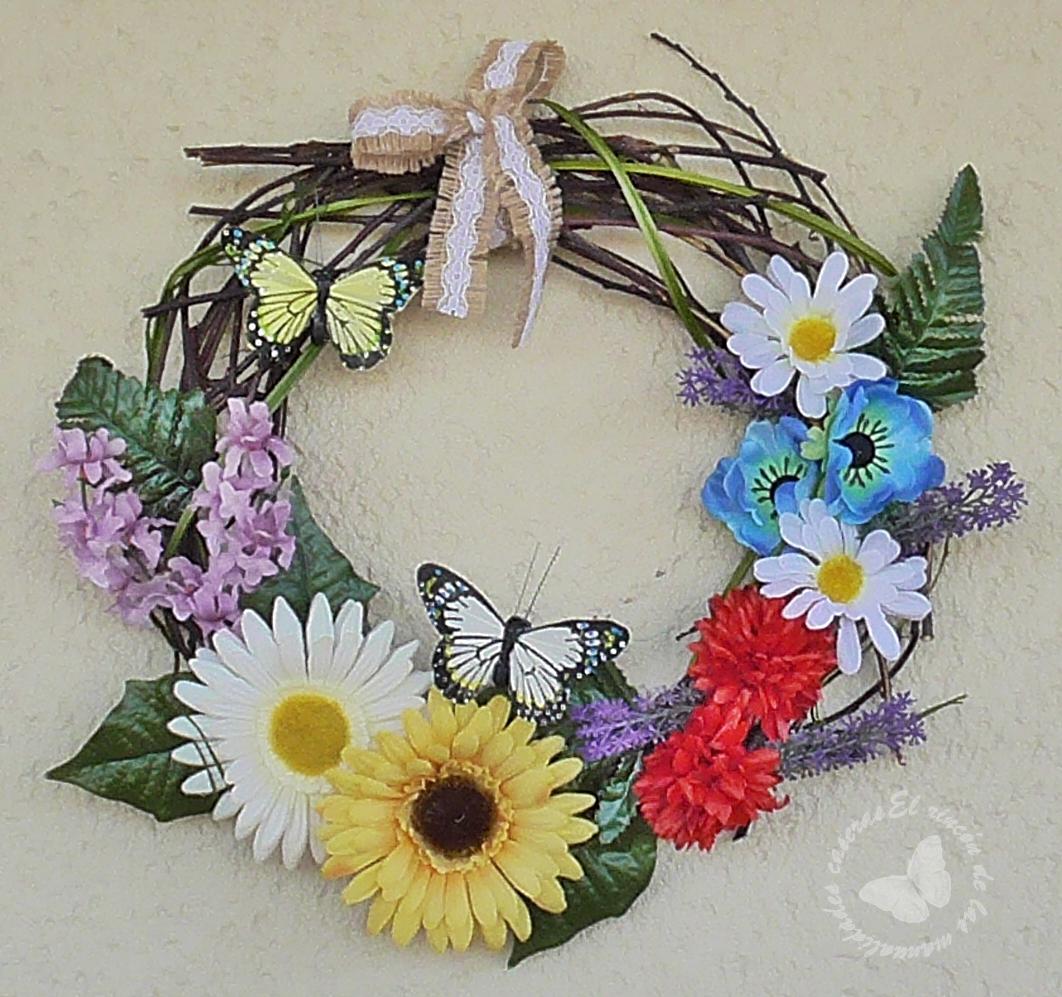 El rinc n de las manualidades caseras c mo hacer una for Como hacer adornos con plantas naturales