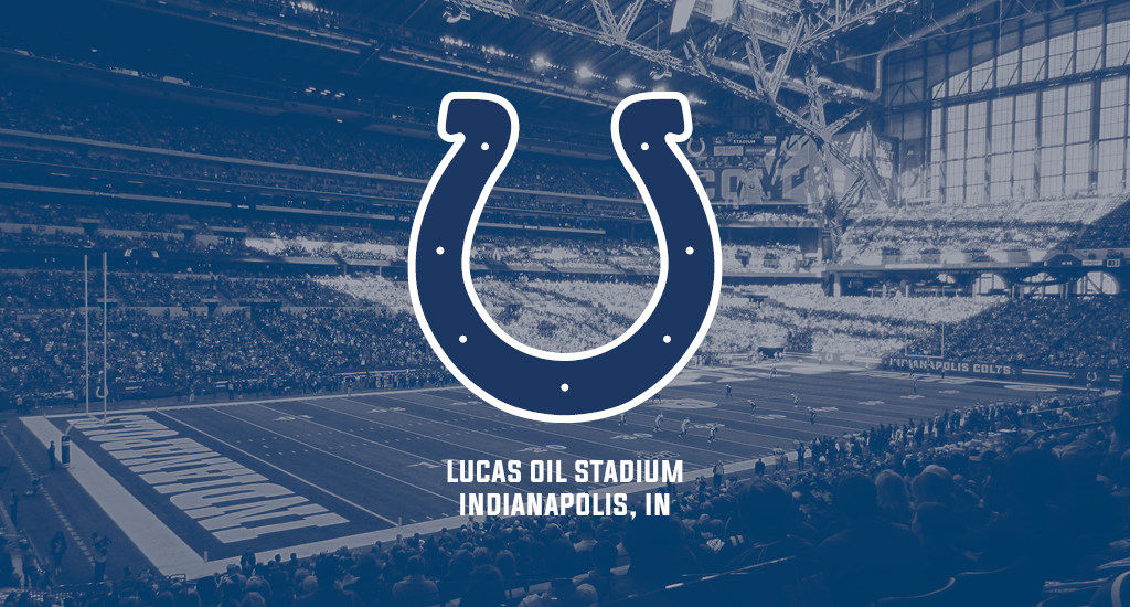 Lucas Oil Stadium and Indianapolis Colts logo