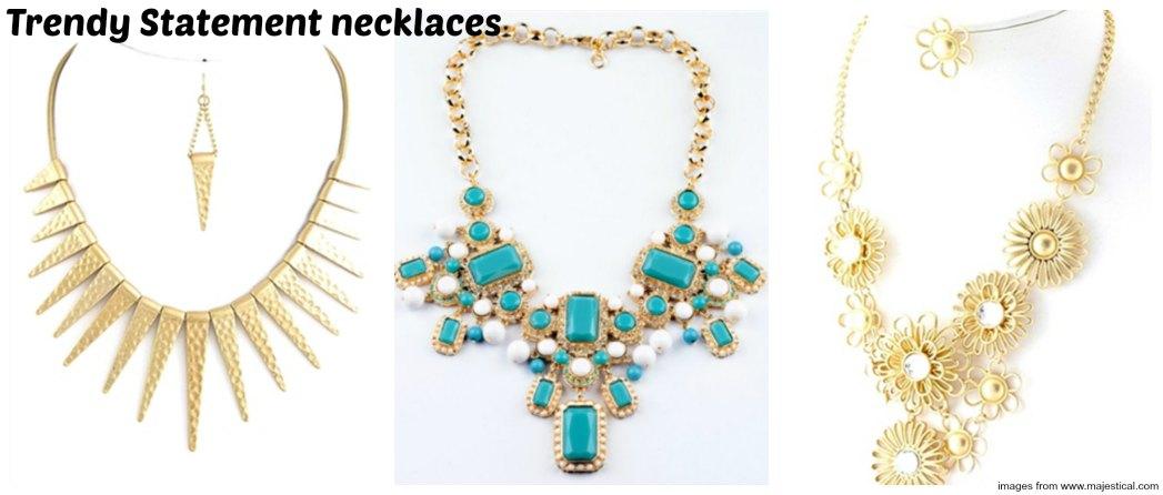 trendy statement necklaces