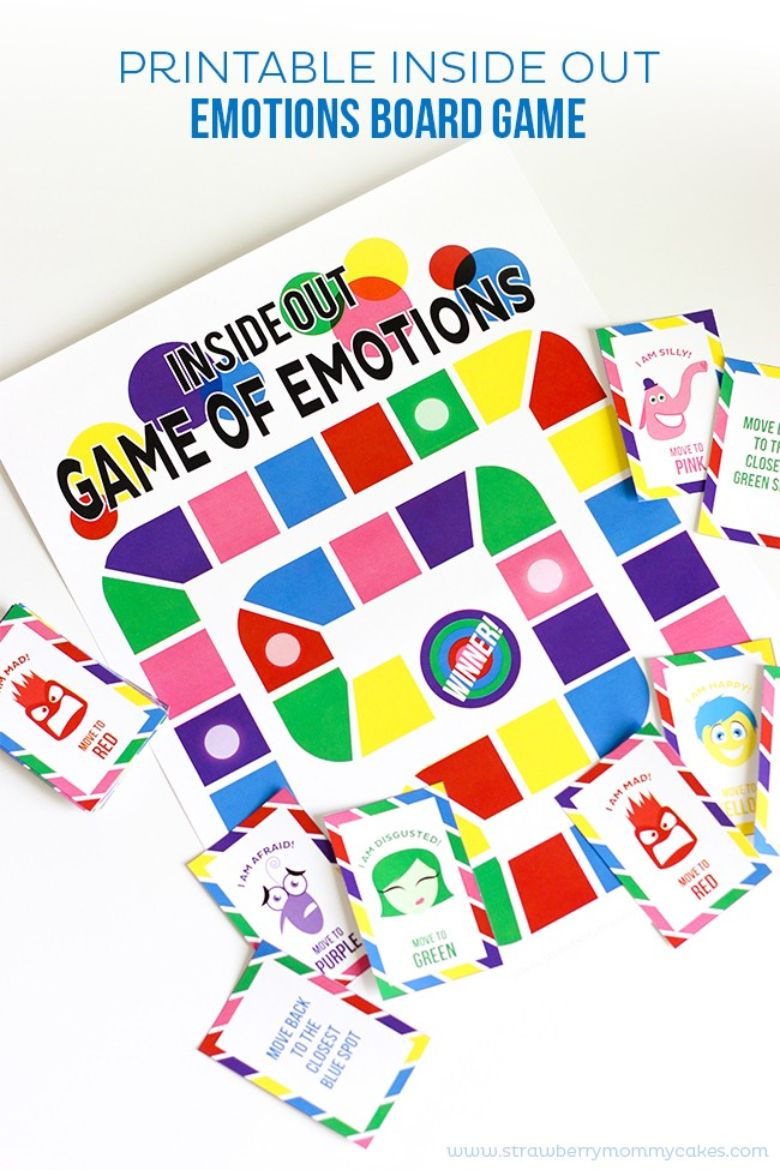 printable games for kids - inside out emotions board game