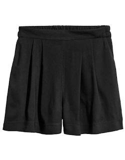 short ample noir H&M