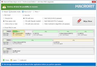تحميل Macrorit Data Wiper Pro Edition 4.1.4 مجانا برنامج مسح البيانات الحساسة على وحدات التخزين (محلي ومحمول)