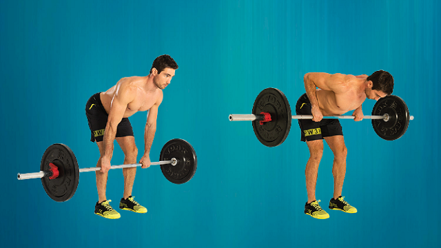 Exercising Weight Bent-Over Row
