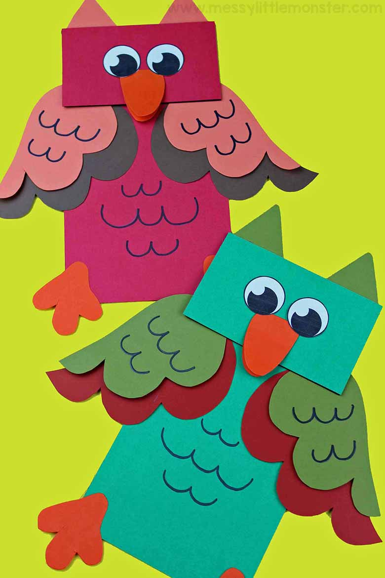 Paper Bag Animal Puppets A Fun Owl Craft For Kids Messy Little