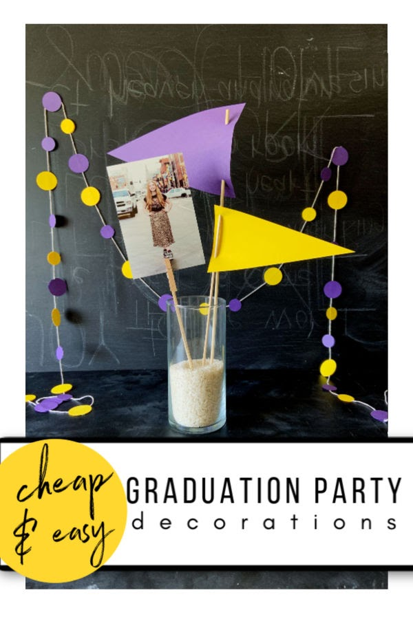 Graduation Party Decorations that are Cheap and Easy to Make - make these super cute party decorations without a lot of supplies OR MONEY