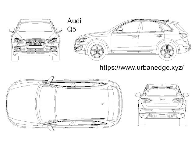 Audi Q5 car cad block download for free