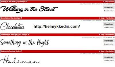 Daftar situs penyedia font gratis1