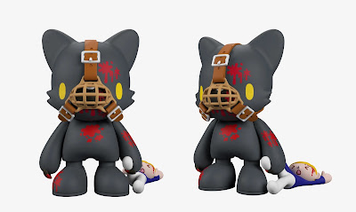 "Gloomy In Black SuperJanky 8"" Vinyl Figure by Mori Chack x Superplastic"